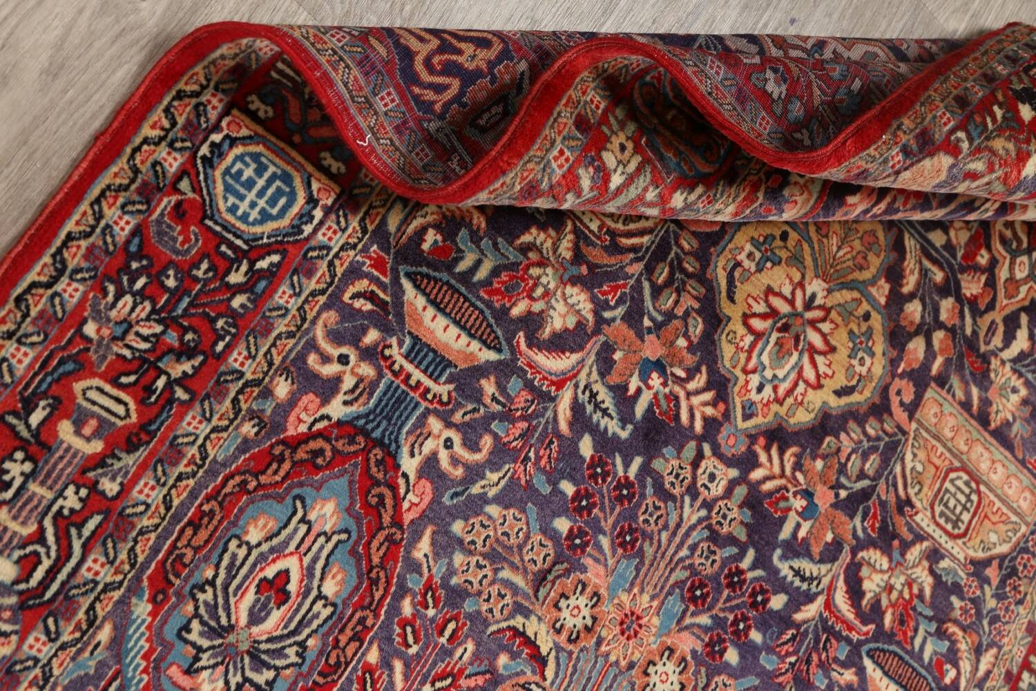 Pictorial Kashmar Persian Area Rug 4x7 image 15