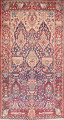 Pictorial Kashmar Persian Area Rug 4x7 image 1