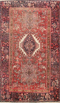 Antique 100% Vegetable Dye Gharajeh Persian Area Rug 4x6