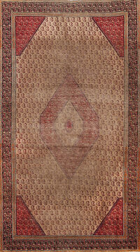Antique Boteh Botemir Persian Area Rug 4x6