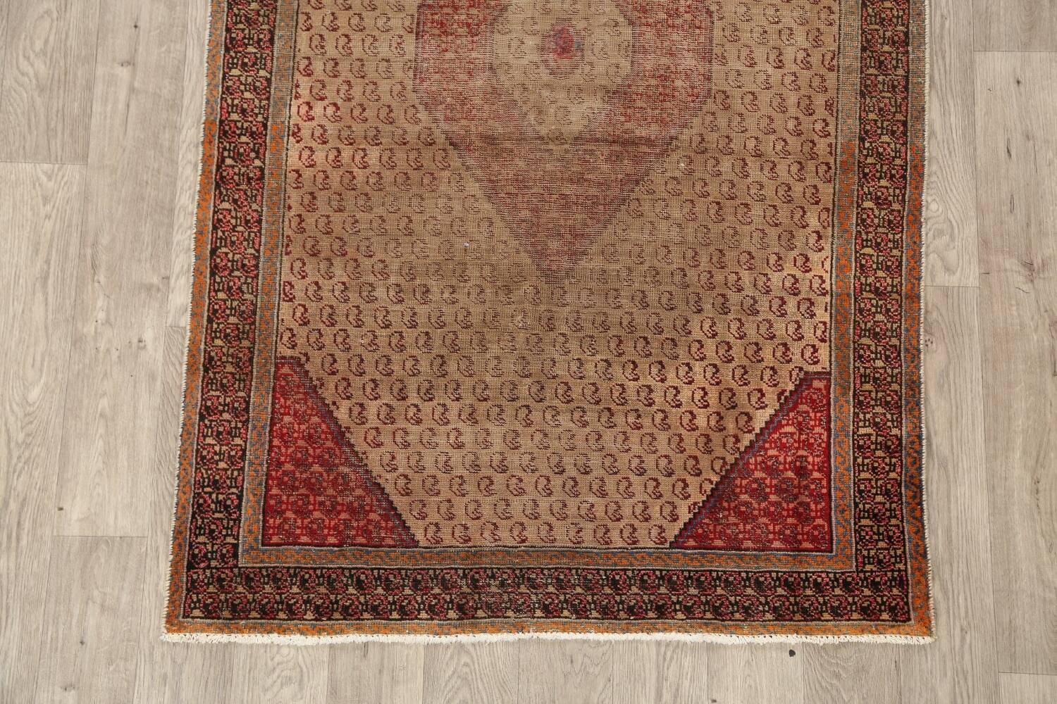 Antique Boteh Botemir Persian Area Rug 4x6 image 8