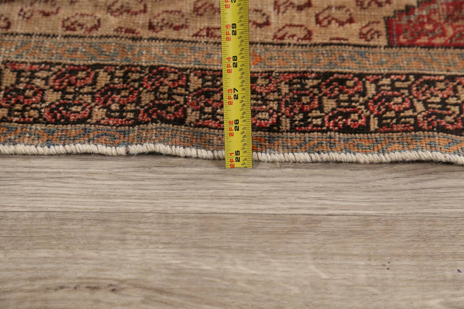 Antique Boteh Botemir Persian Area Rug 4x6 image 19