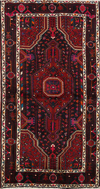 Tribal Nahavand Persian Area Rug 4x7