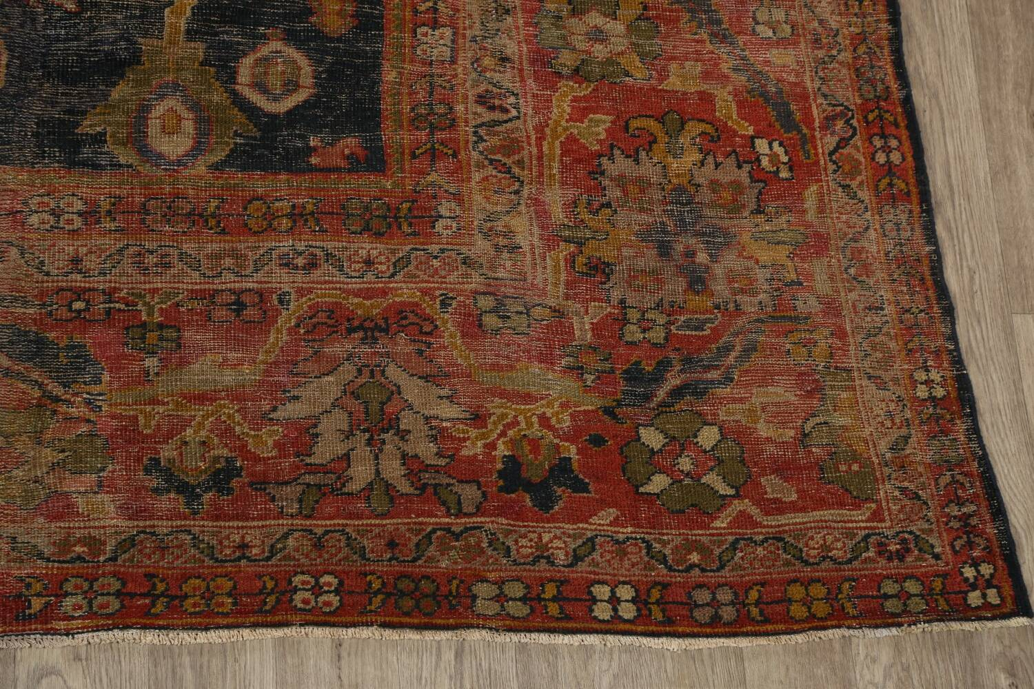 Antique Vegetable Dye Sultanabad Persian Area Rug 11x14 Large image 5