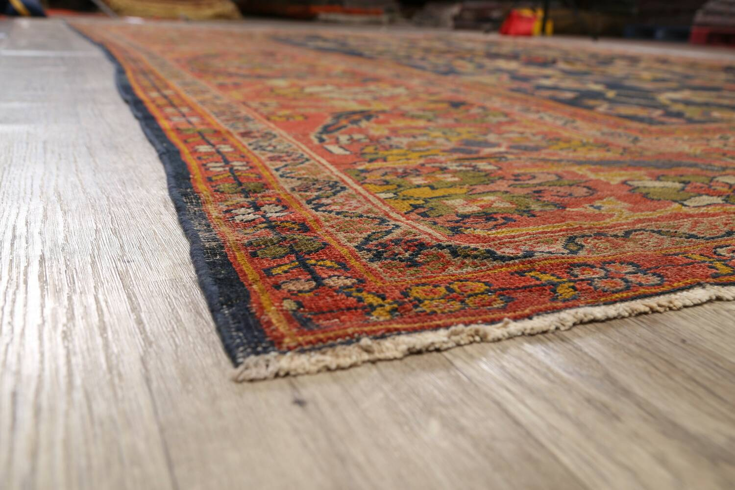 Antique Vegetable Dye Sultanabad Persian Area Rug 11x14 Large image 6