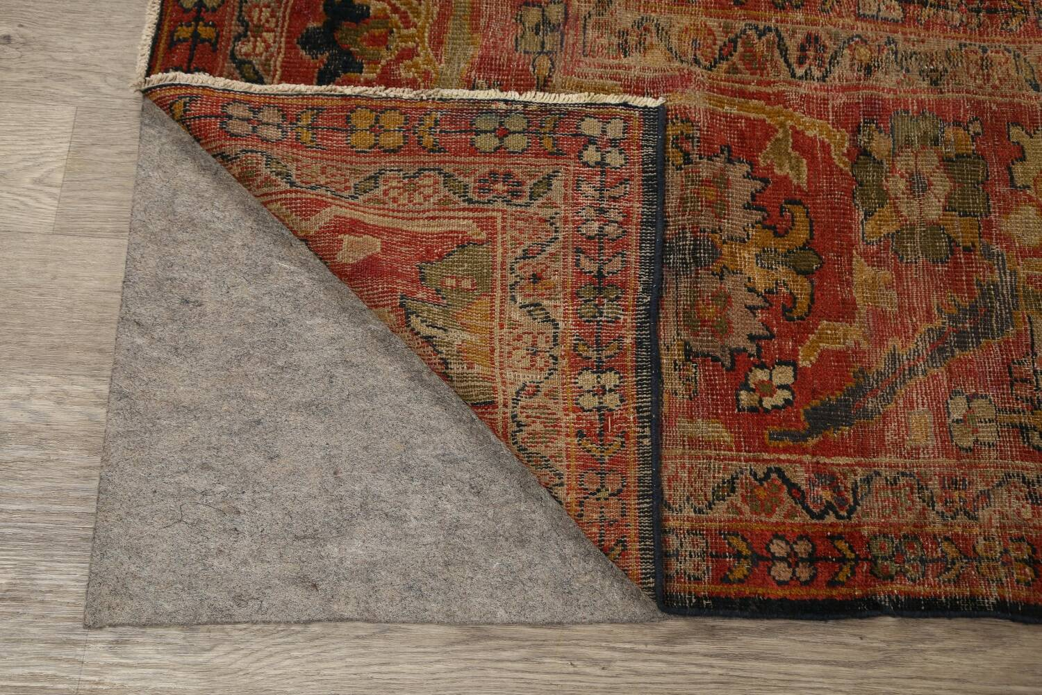 Antique Vegetable Dye Sultanabad Persian Area Rug 11x14 Large image 7