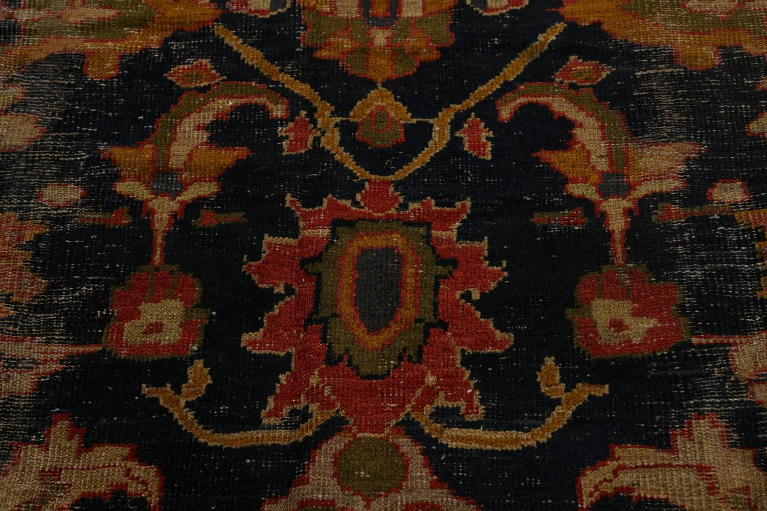 Antique Vegetable Dye Sultanabad Persian Area Rug 11x14 Large image 11