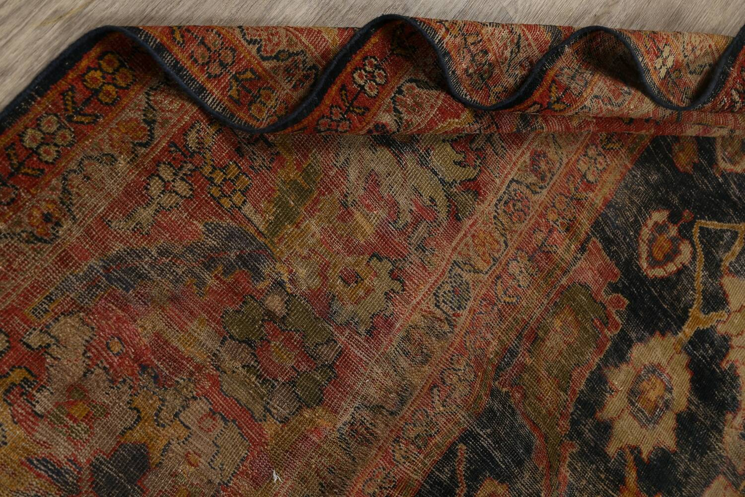 Antique Vegetable Dye Sultanabad Persian Area Rug 11x14 Large image 17