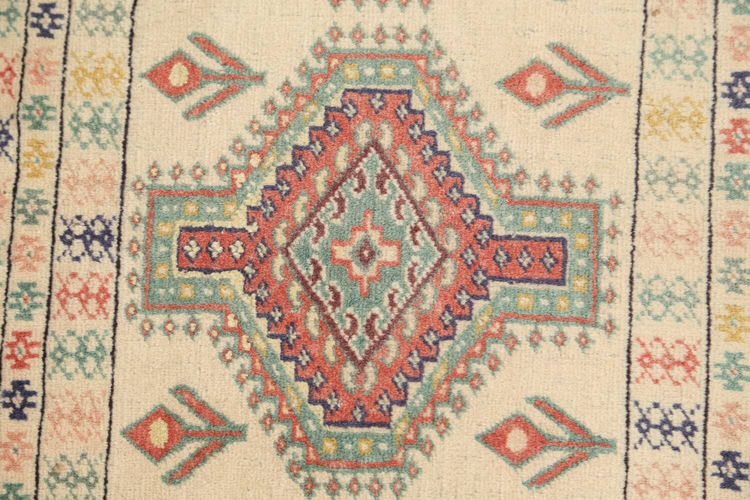 South-Western Style Bokhara Oriental Area Rug 1x2 image 7
