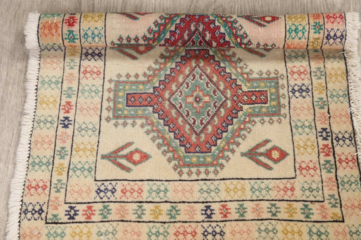 South-Western Style Bokhara Oriental Area Rug 1x2 image 11