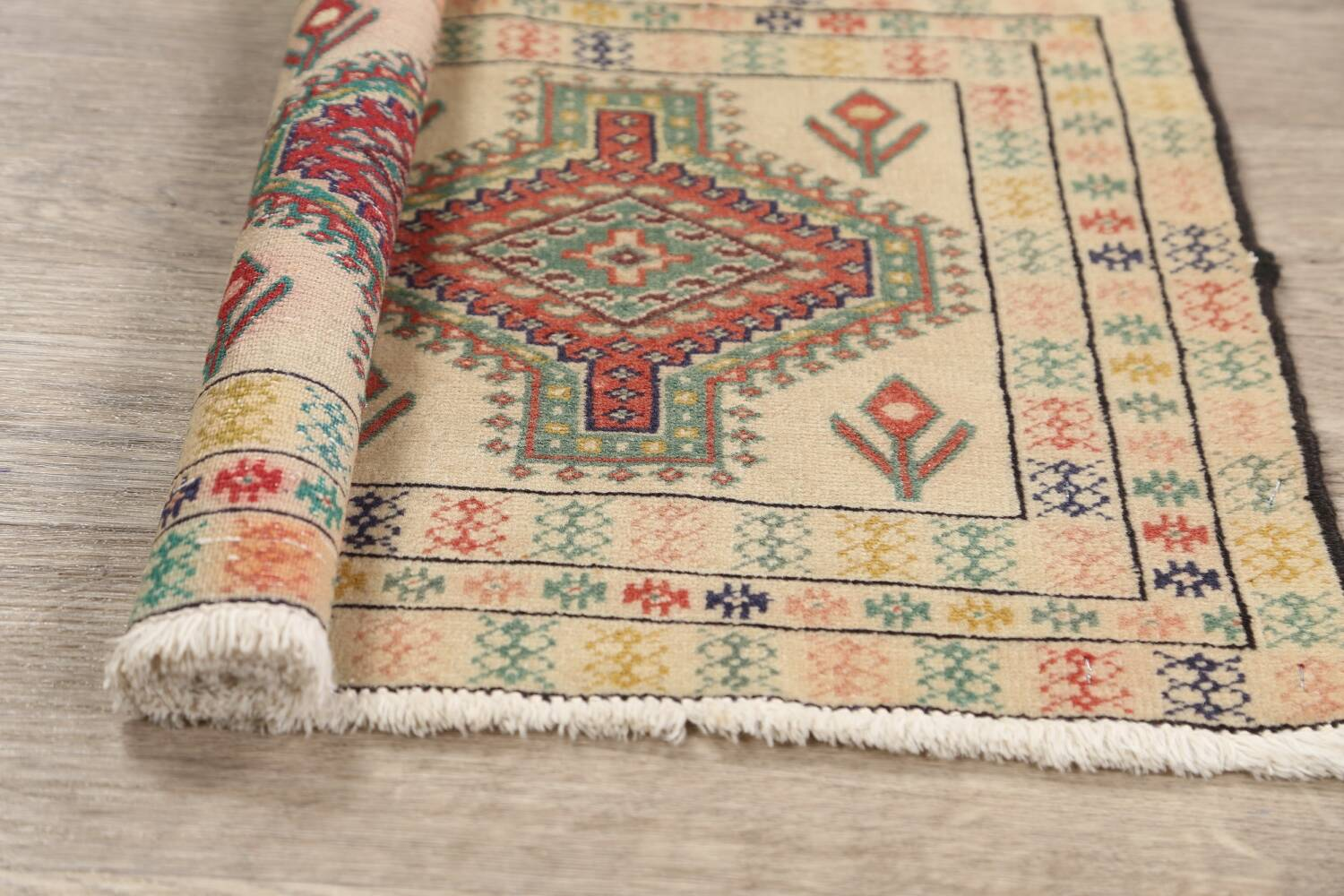 South-Western Style Bokhara Oriental Area Rug 1x2 image 12