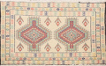 South-Western Style Bokhara Oriental Area Rug 1x2 image 1