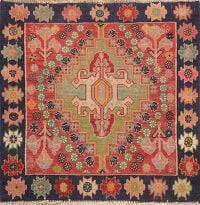 Antique 100% Vegetable Dye Abadeh Persian Rug 2x2 Square
