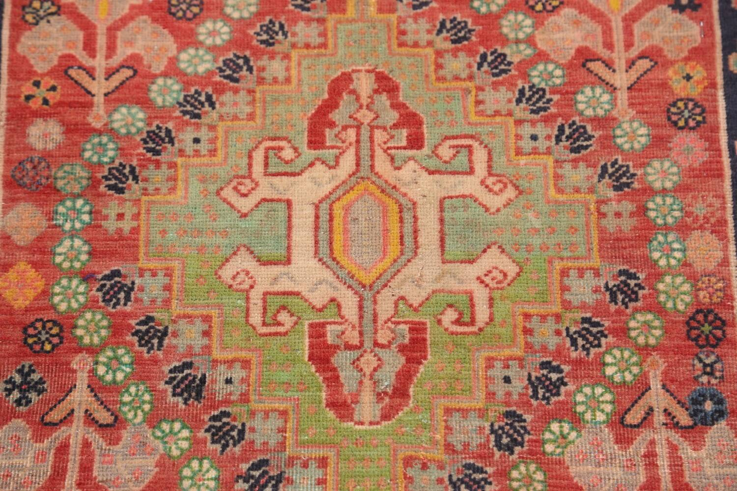 Antique 100% Vegetable Dye Abadeh Persian Rug 2x2 Square image 3