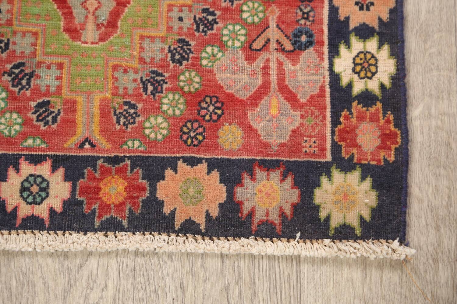 Antique 100% Vegetable Dye Abadeh Persian Rug 2x2 Square image 4