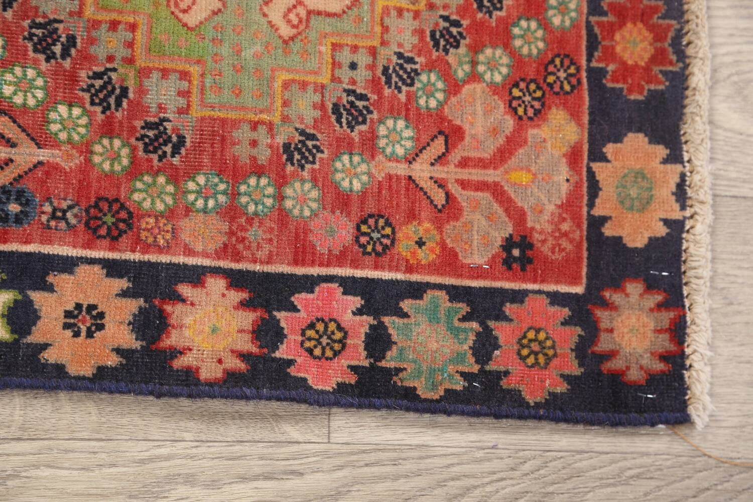 Antique 100% Vegetable Dye Abadeh Persian Rug 2x2 Square image 8