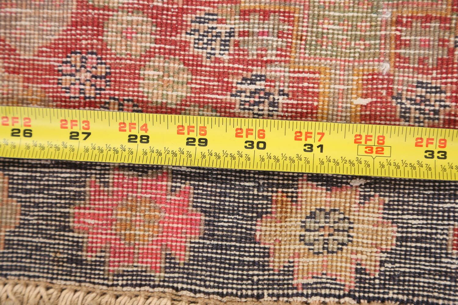 Antique 100% Vegetable Dye Abadeh Persian Rug 2x2 Square image 15