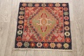 Antique 100% Vegetable Dye Abadeh Persian Rug 2x2 Square image 2