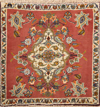 Floral Abadeh Persian Area Rug 2x2 Square