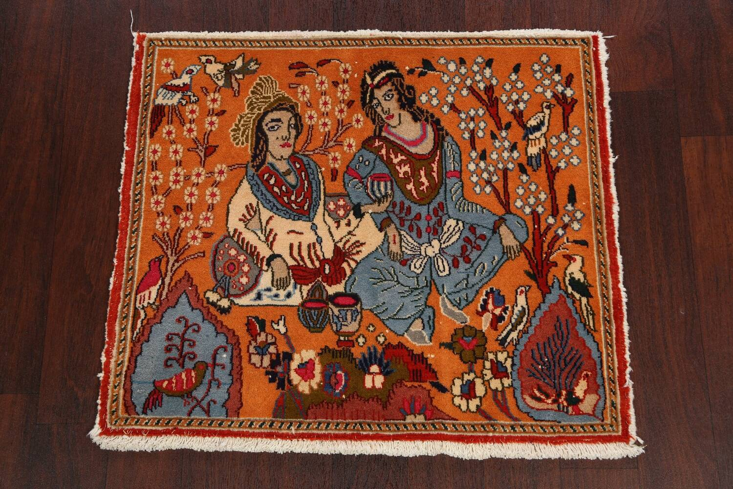 Pictorial Set of 2 Shiraz Persian Area Rugs 2x3 image 3
