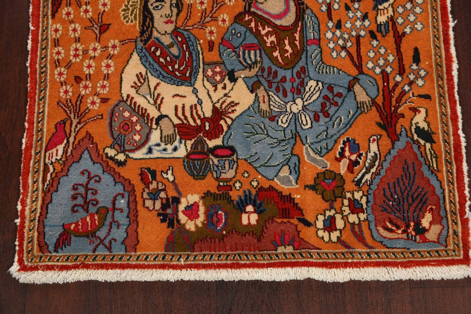 Pictorial Set of 2 Shiraz Persian Area Rugs 2x3 image 9
