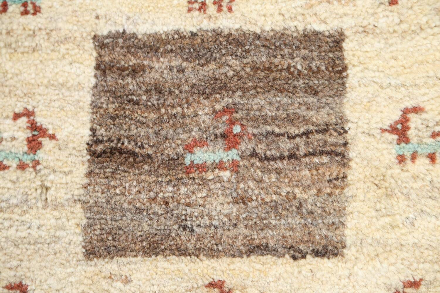 Set of 3 Tribal Gabbeh Persian Area Rugs 1x1 Square image 3
