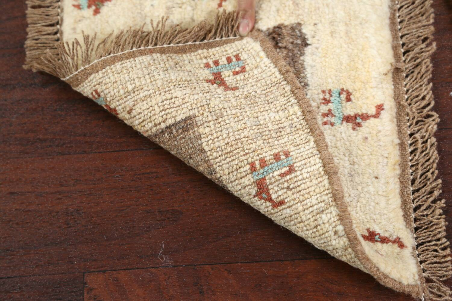 Set of 3 Tribal Gabbeh Persian Area Rugs 1x1 Square image 6