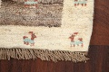 Set of 3 Tribal Gabbeh Persian Area Rugs 1x1 Square image 4