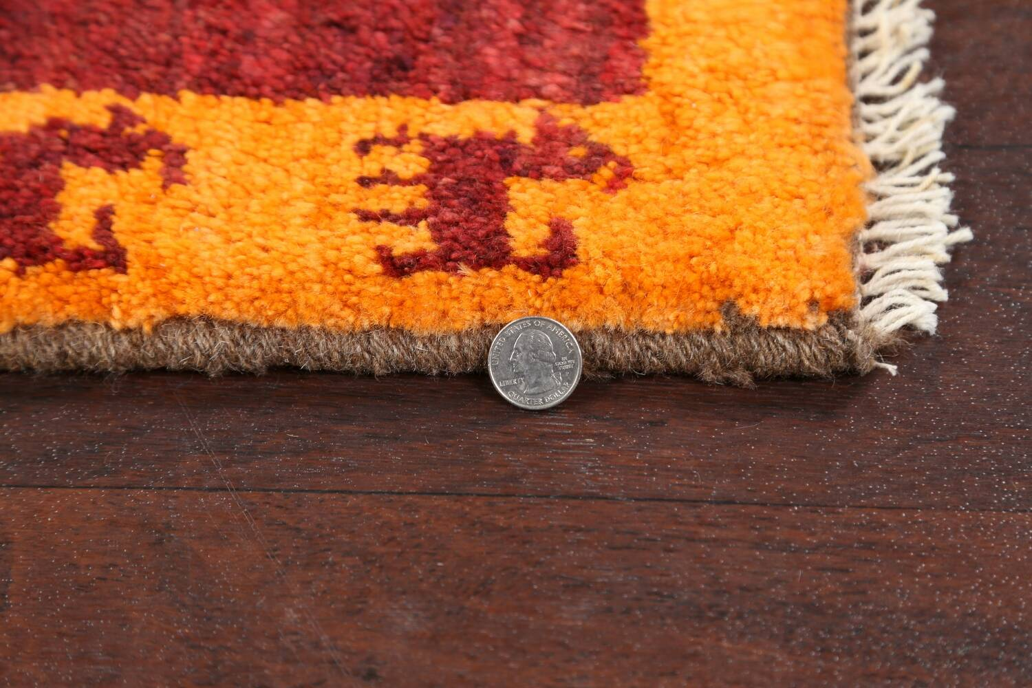 Set of 2 Tribal Gabbeh Persian Area Rugs 1x1 Square image 5