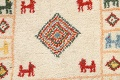 Set of 2 Tribal Gabbeh Persian Area Rugs 1x1 Square image 3