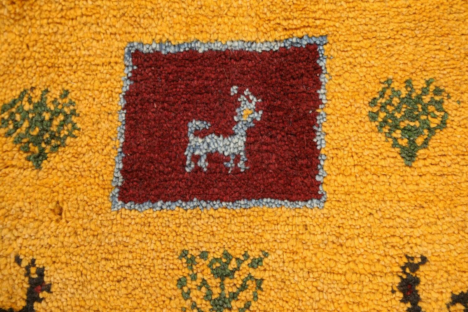 Set of 2Tribal Gabbeh Persian Area Rugs 1x1 Square image 3