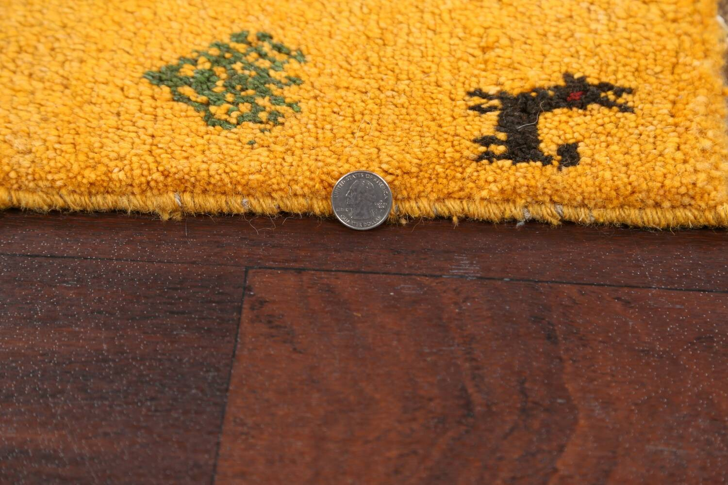Set of 2Tribal Gabbeh Persian Area Rugs 1x1 Square image 5