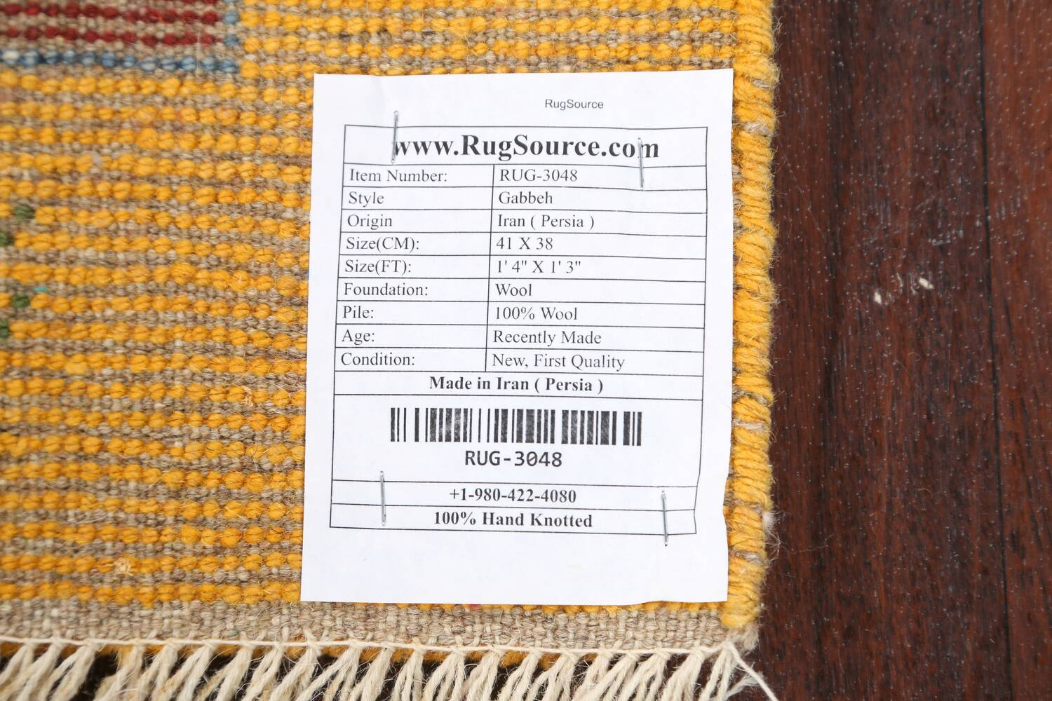 Set of 2Tribal Gabbeh Persian Area Rugs 1x1 Square image 7