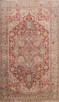 Antique Heriz Vegetable Dye Persian Area Rug 8x11