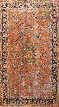 Antique Tabriz Persian Area Rug 7x10