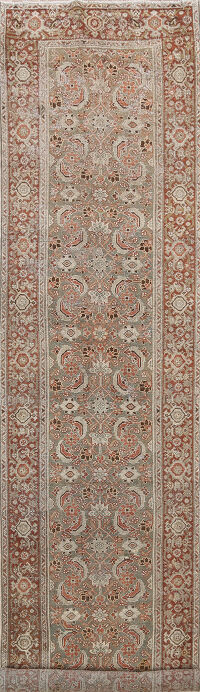 Pre-1900 Antique Malayer Persian Runner Rug 2x16