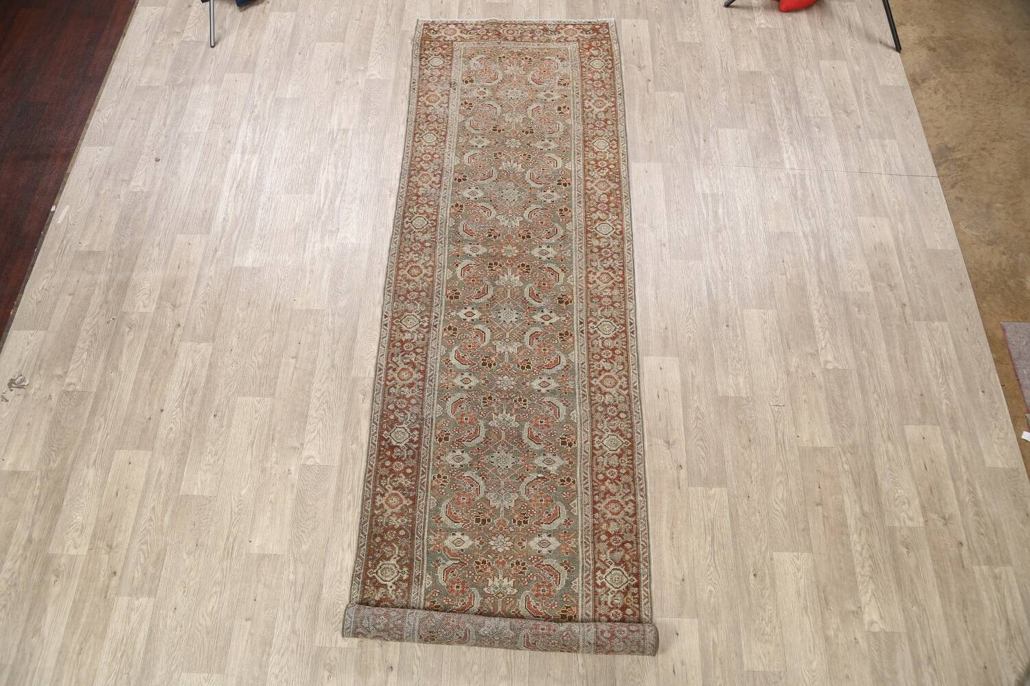 Pre-1900 Antique Malayer Persian Runner Rug 2x16 image 2