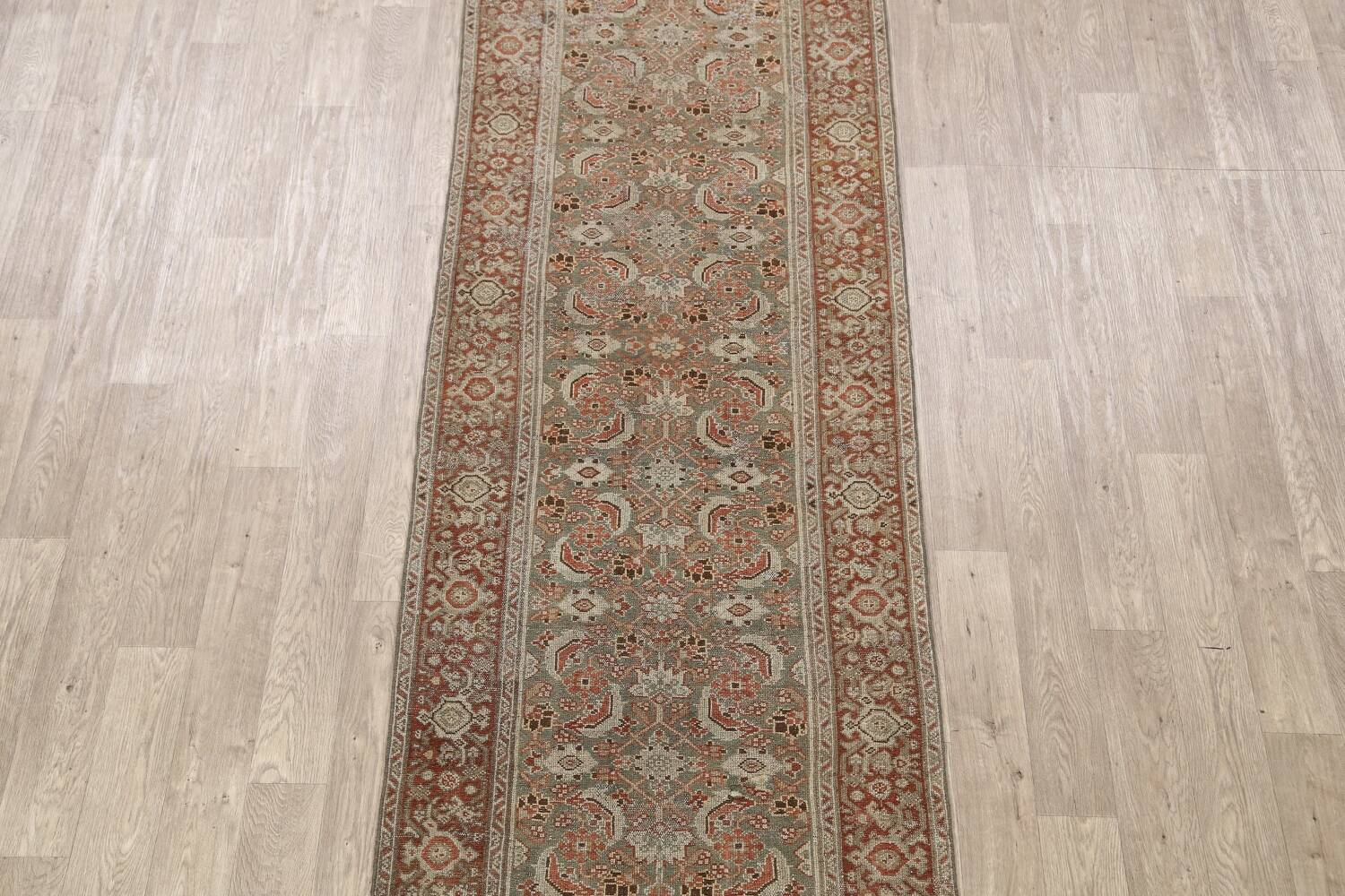 Pre-1900 Antique Malayer Persian Runner Rug 2x16 image 3