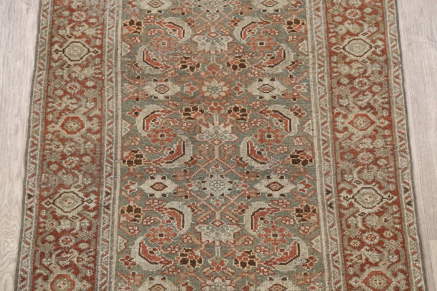 Pre-1900 Antique Malayer Persian Runner Rug 2x16 image 4