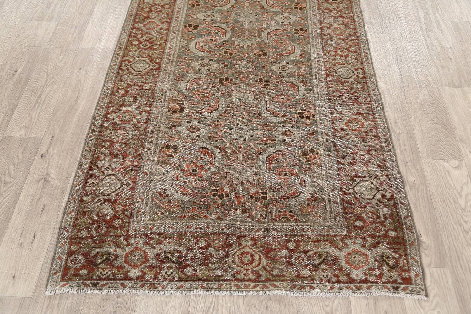 Pre-1900 Antique Malayer Persian Runner Rug 2x16 image 8