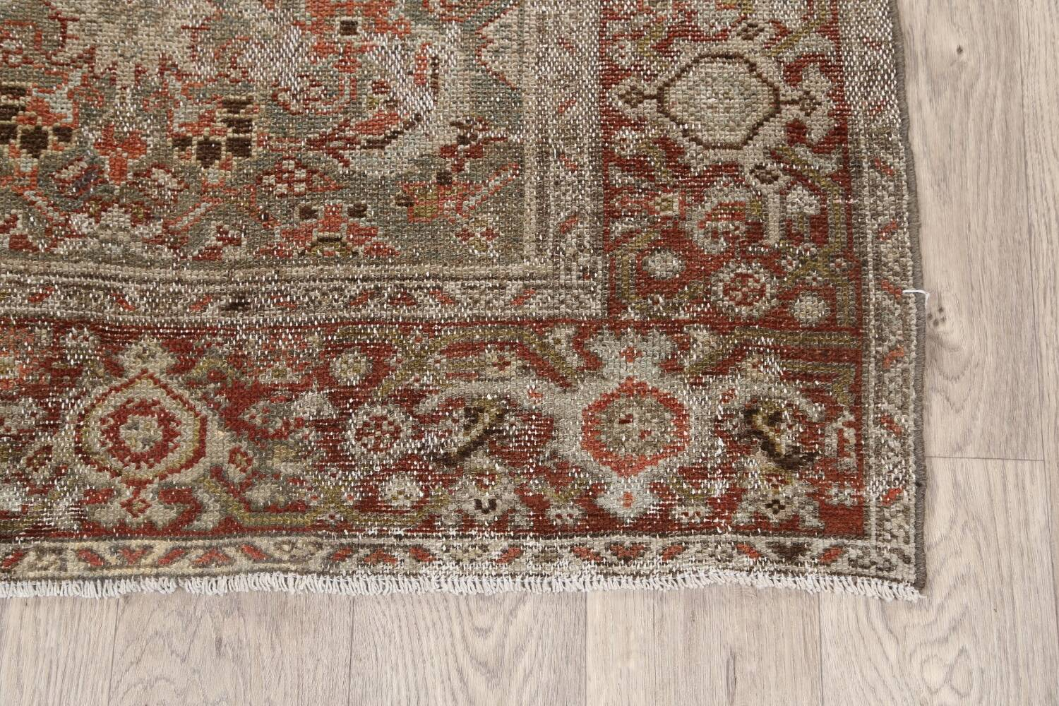 Pre-1900 Antique Malayer Persian Runner Rug 2x16 image 5