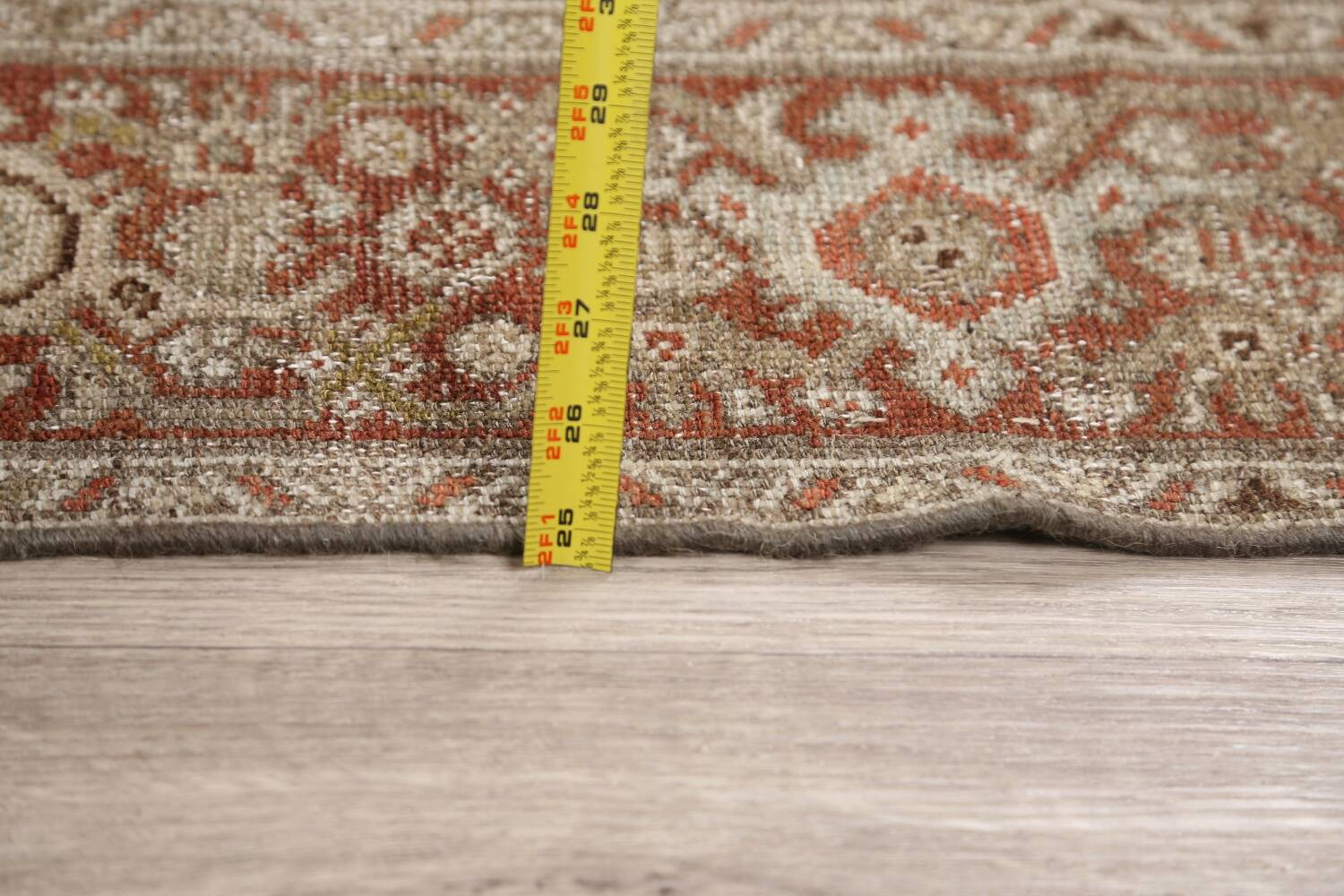 Pre-1900 Antique Malayer Persian Runner Rug 2x16 image 17