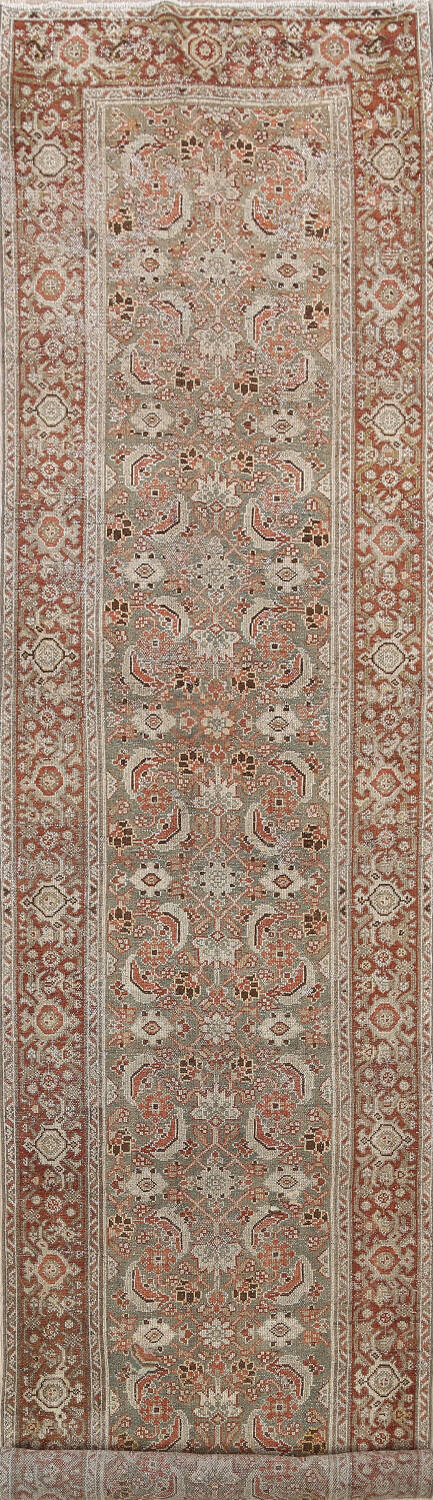 Pre-1900 Antique Malayer Persian Runner Rug 2x16 image 1