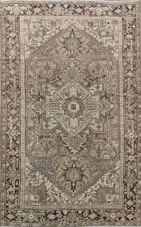 Antique Heriz Persian Area Rug 7x11