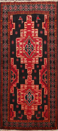 Tribal Zanjan Persian Area Rug 4x7