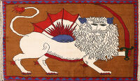 Animal Pictorial Gabbeh Persian Area Rug 4x5