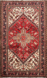Geometric Heriz Persian Area Rug 3x5