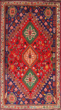 Tribal Abadeh Vegetable Dye Persian Area Rug 4x6