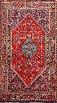 100% Vegetable Dye Bidjar  Persian Area Rug 4x6