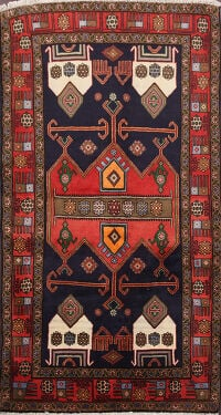 Tribal Hamedan Persian Area Rug 3x6